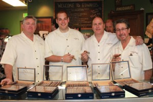 From left to right: T.L. Johnson (CEO), Alex Johnson (Sales Department), Randy Shorman (Marketing and Product Developement of Cigars)